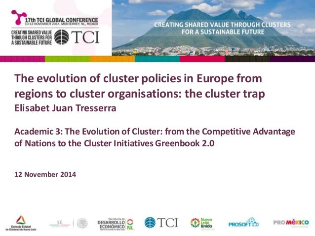 The evolution of cluster policies in Europe from  regions to cluster organisations: the cluster trap  Elisabet Juan Tresse...