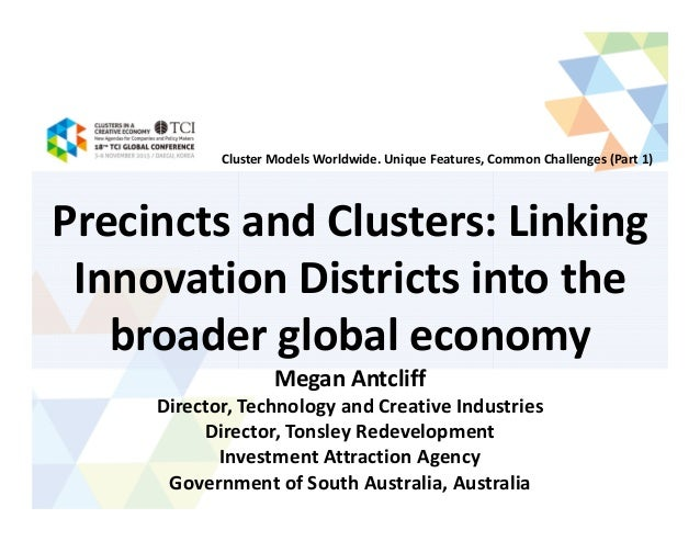 Local clusters in a global economy