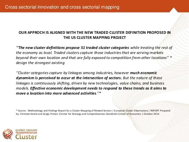 TCI Crosssectorial Innovation - Us cluster mapping