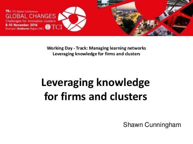 Titel presentatie [Naam, organisatienaam] Working Day - Track: Managing learning networks Leveraging knowledge for firms a...