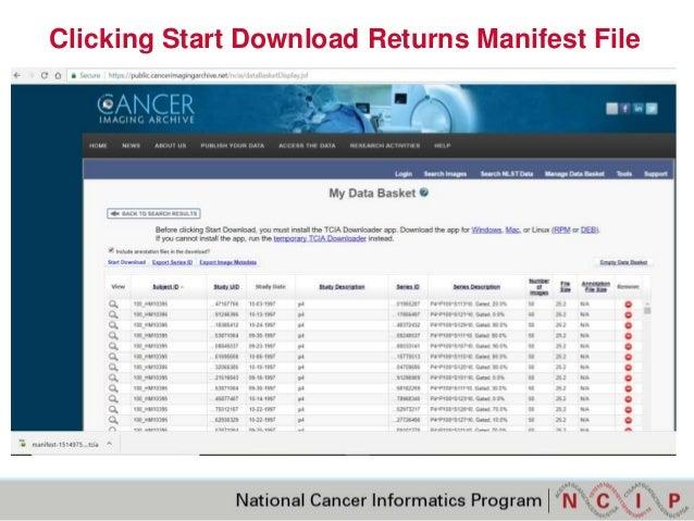 manifest file download