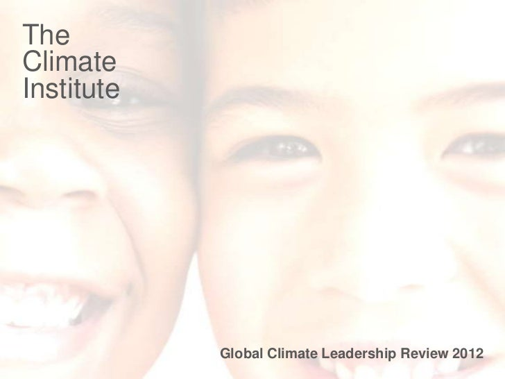TheClimate graphic cover slide   InsertInstitute sort of contact details • List some                   Global Climate Lead...