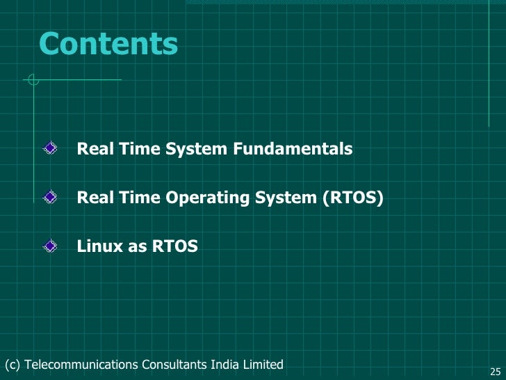 Rtos real time operating system thesis