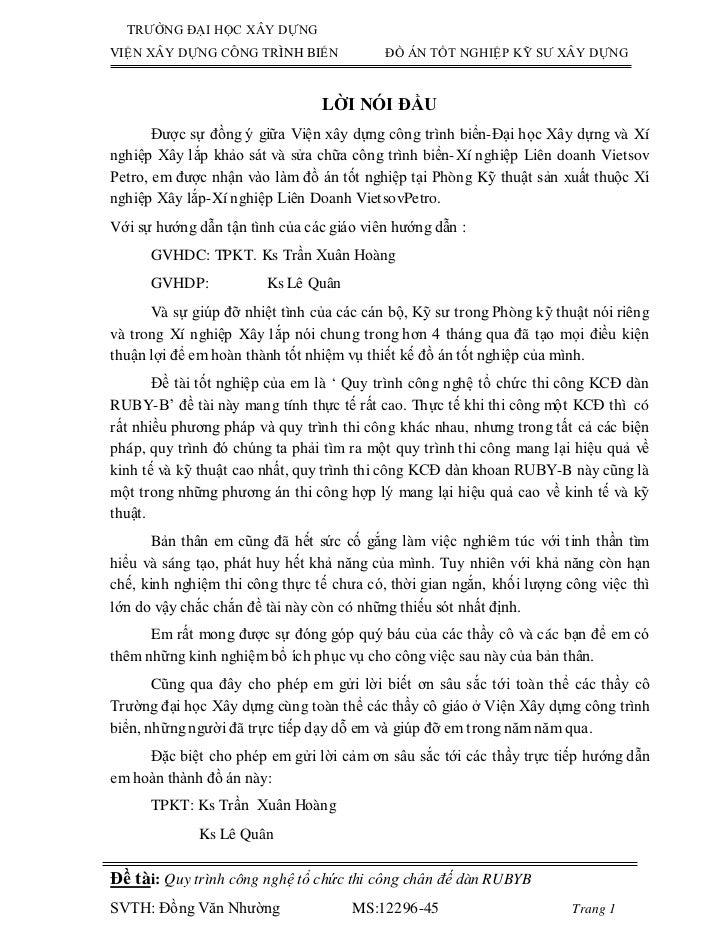 TRƯỜNG ĐẠI HỌC XÂY DỰNGVIỆN XÂY DỰNG CÔNG TRÌNH BIỂN             ĐỒ ÁN TỐT NGHIỆP KỸ SƯ XÂY DỰNG                          ...