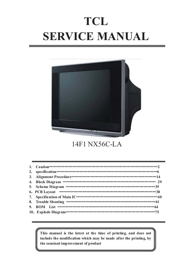 tcl nx56c la chassis 14f1 tda11145ps n3 3 tyea1533p stv9302b tv sm rh slideshare net tcl android tv user manual tcl television user manual