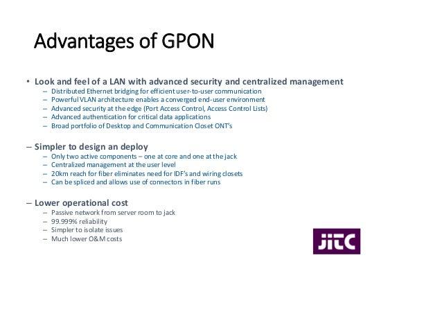 GPON Optical Lan Overview November 5, 2014