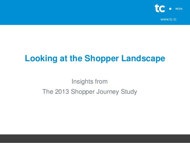 Looking at the Shopper Landscape Insights from The 2013 Shopper Journey Study