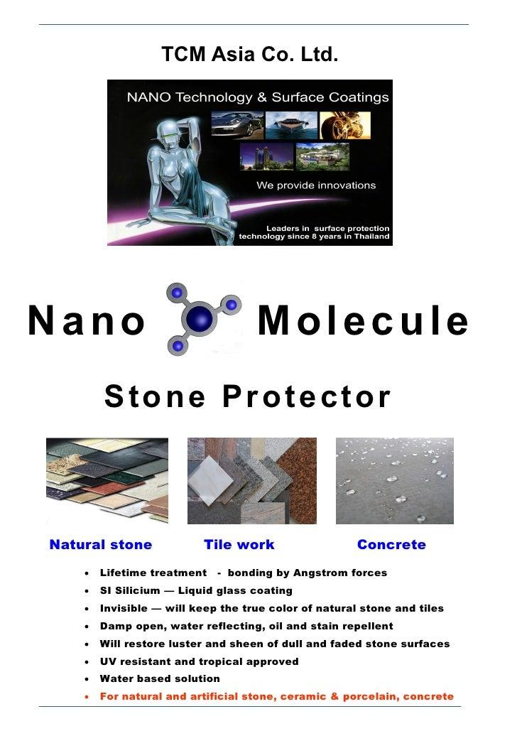 TCM Asia Co. Ltd.Nano                                Molecule        Stone ProtectorNatural stone             Tile work   ...