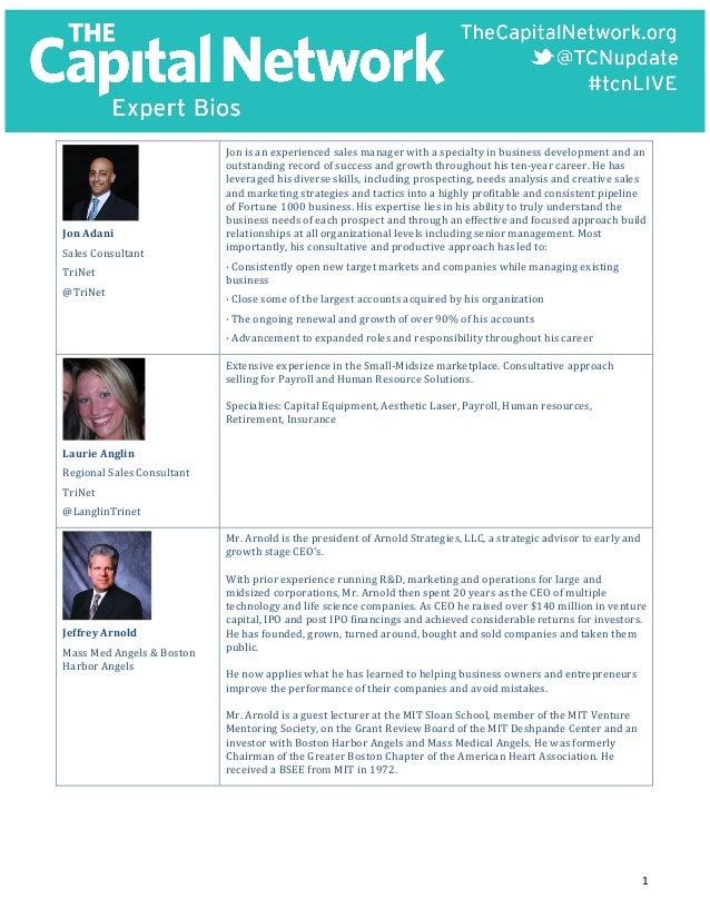 1      Jon  Adani   Sales  Consultant   TriNet   @TriNet   Jon  is  an  experienced  sales...
