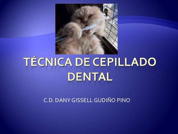C.D. DANY GISSELL GUDIÑO PINO