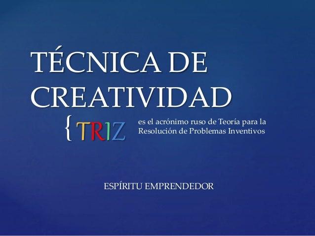 T cnicas de creatividad en Innovaci n y creatividad