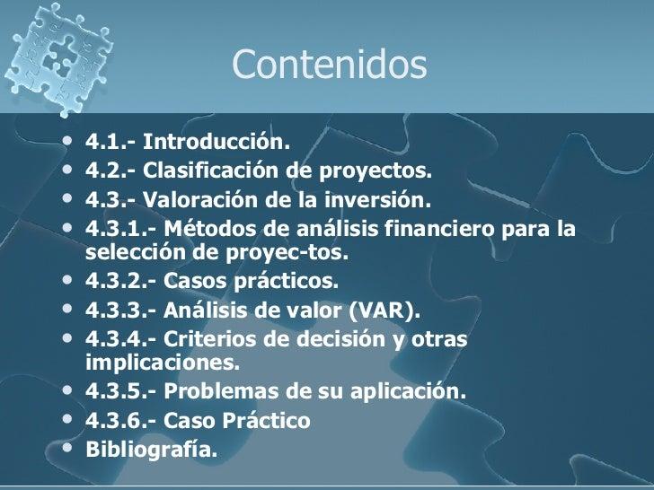 PMO: Técnicas Financieras para valoración de proyectos de S.I./T.I. Slide 3