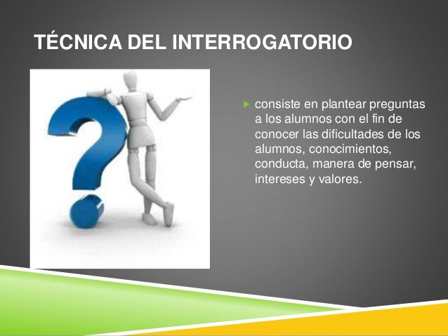 TECNICA DE INTERROGATORIO PDF