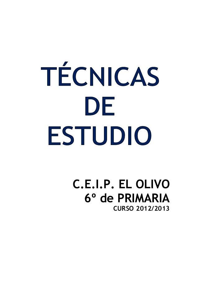 C.E.I.P. EL OLIVO  6º de PRIMARIA       CURSO 2012/2013