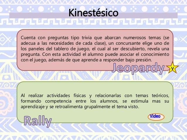 Kinestésico El juego consta de siete piezas que hay que organizar para formar la figura propuesta, no puede sobrar ninguna...