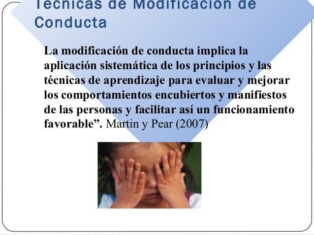 Técnicas de modificación de conducta Slide 2