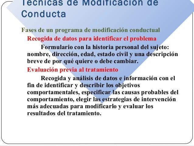 Técnicas de modificación de conducta Slide 3