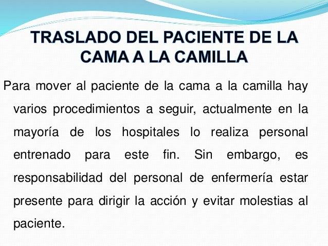 T cnicas de movilizacion y traslado de paciente for Cama definicion