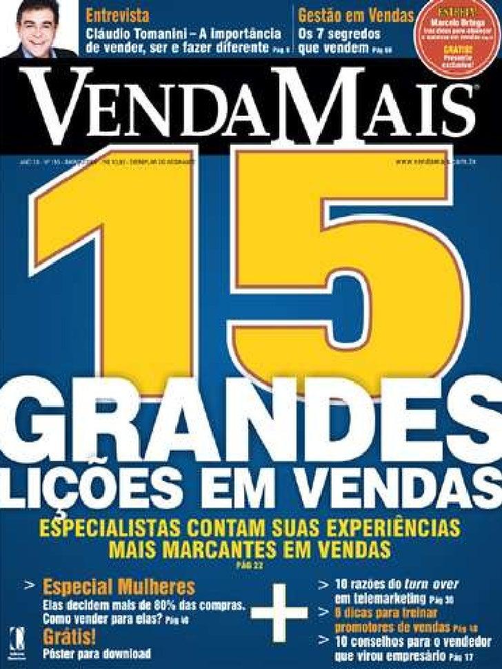 Técnicas De Vendas Revista Venda Mais Editora Quantum