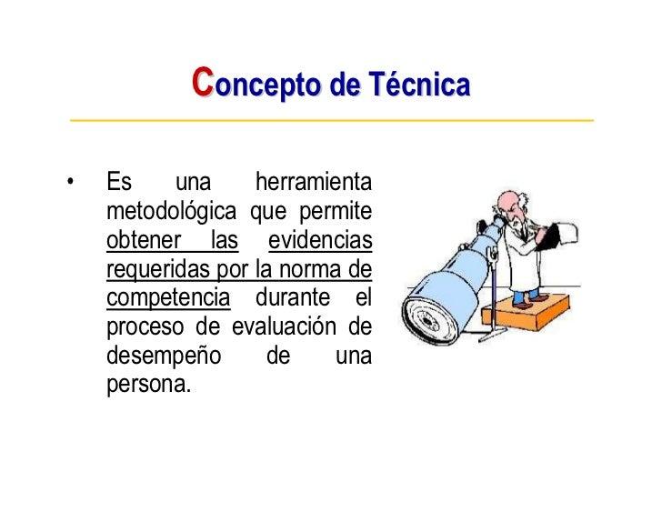 T cnicas e instrumentos de evaluaci n de competencias for Concepto de tecnicas de oficina