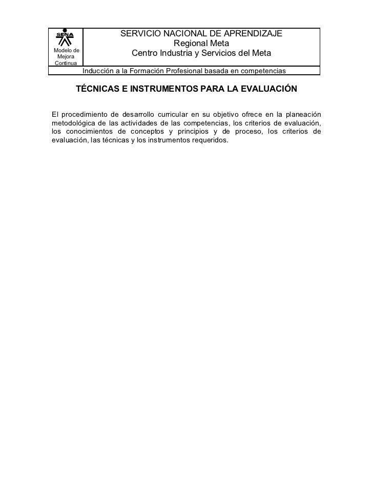SERVICIO NACIONAL DE APRENDIZAJE                                   Regional MetaModelo de Mejora                  Centro I...