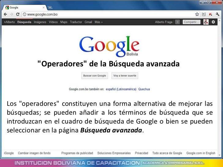 Técnicas para buscar con google Slide 3