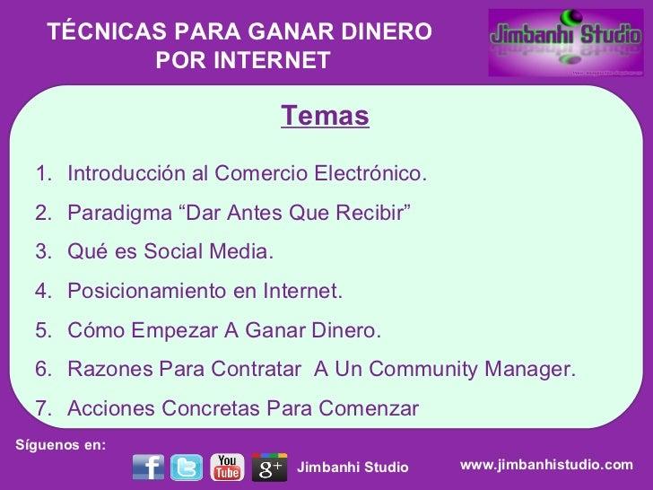 "Temas <ul><li>Introducción al Comercio Electrónico. </li></ul><ul><li>Paradigma ""Dar Antes Que Recibir"" </li></ul><ul><li>..."