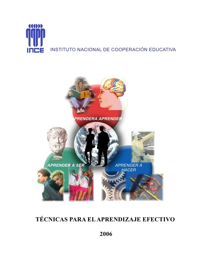 INSTITUTO NACIONAL DE COOPERACIÓN EDUCATIVA                APRENDERA APRENDER        APRENDER A SER           APRENDER A  ...
