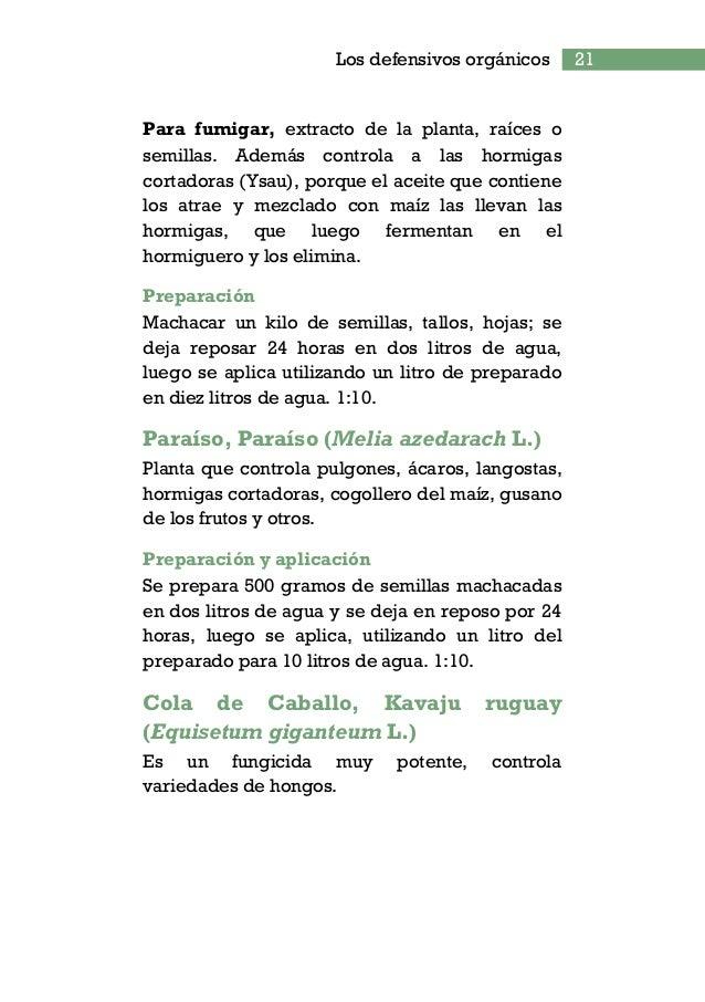 BIBLIOGRAFÍA FLORENTIN, A. 2008. Agricultura orgánica. Puerto Bertoni, Py: Helvetas/Tekoha. 45p. FLORENTIN, M.; PEÑALVA, M...