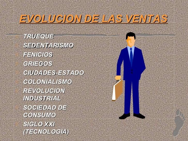 EVOLUCION DE LAS VENTASTRUEQUESEDENTARISMOFENICIOSGRIEGOSCIUDADES-ESTADOCOLONIALISMOREVOLUCIONINDUSTRIALSOCIEDAD DECONSUMO...