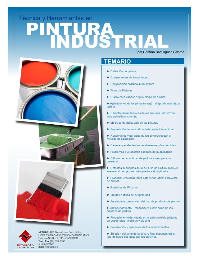 Técnica y Herramientas en  PINTURA   INDUSTRIAL                                                         por Germán Domín...