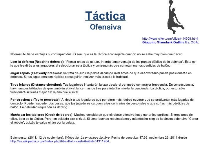 T cnica y t ctica del baloncesto for Que es tecnica de oficina wikipedia