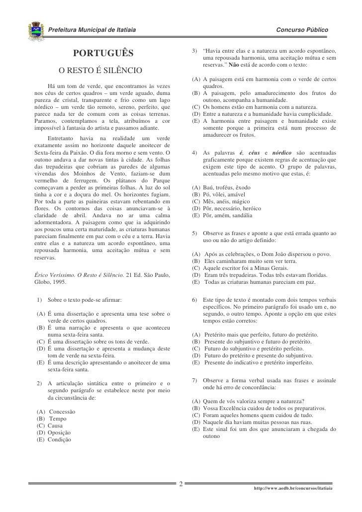 Prefeitura Municipal de Itatiaia                                                           Concurso Públicoaaaaaa         ...