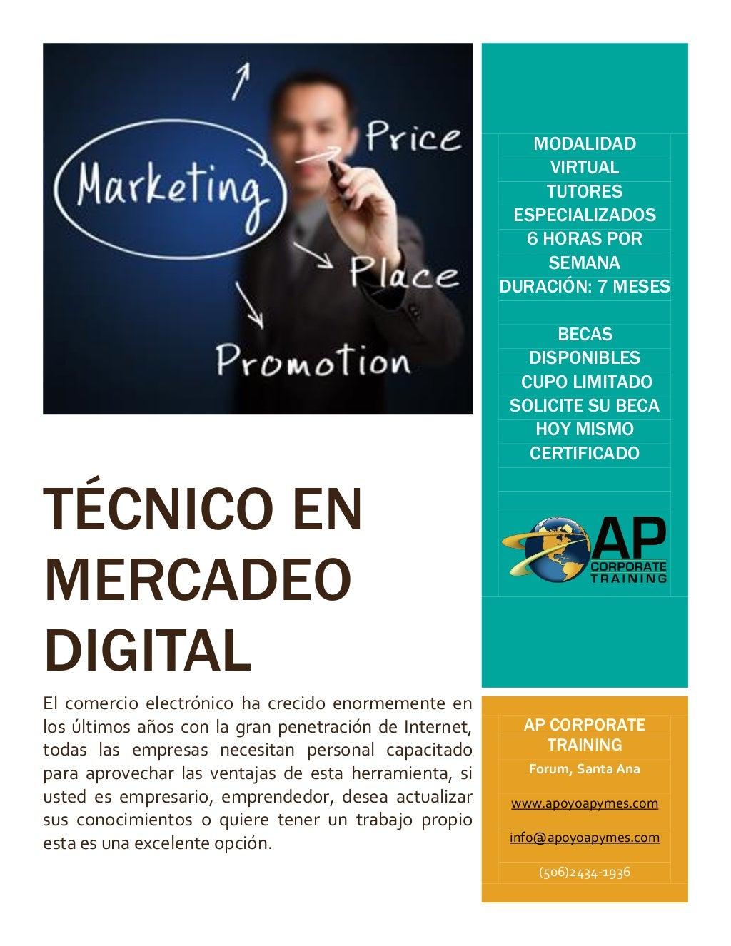 Técnico en mercadeo digital