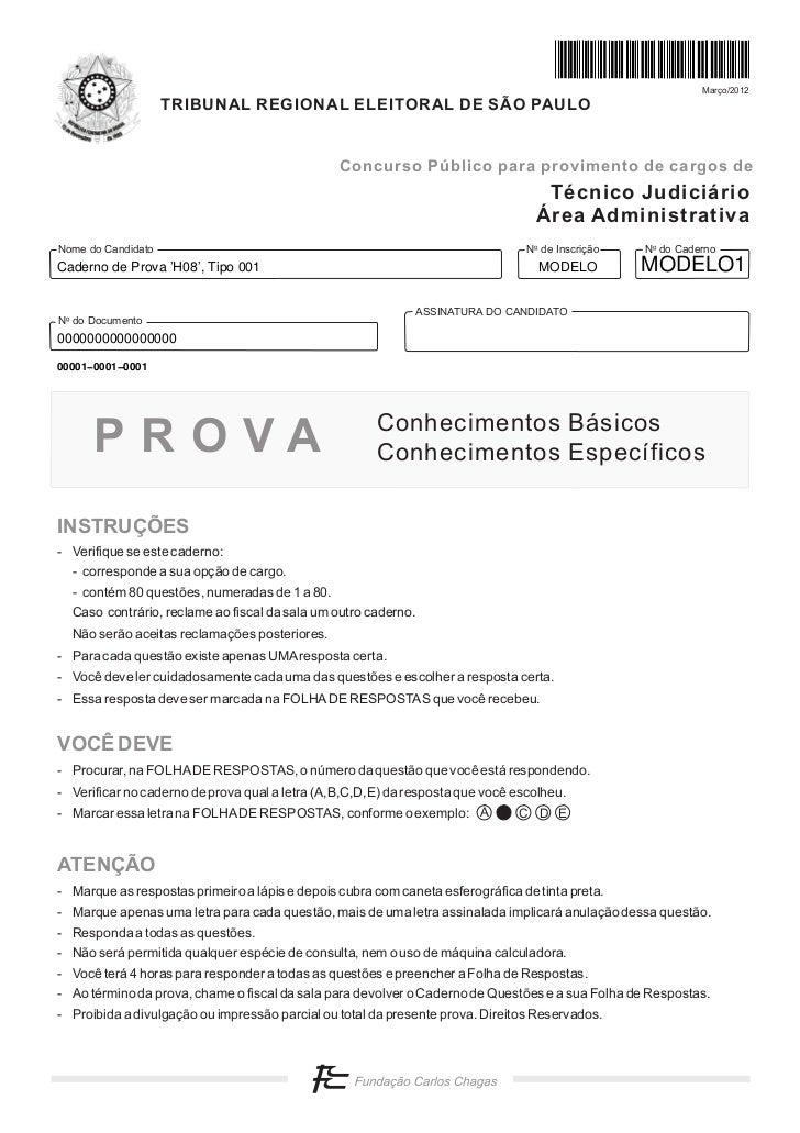 Março/2012                    TRIBUNAL REGIONAL ELEITORAL DE SÃO PAULO                                                Conc...