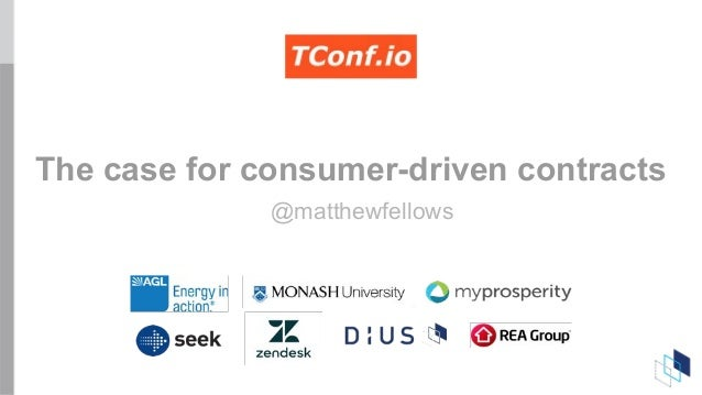The case for consumer-driven contracts @matthewfellows