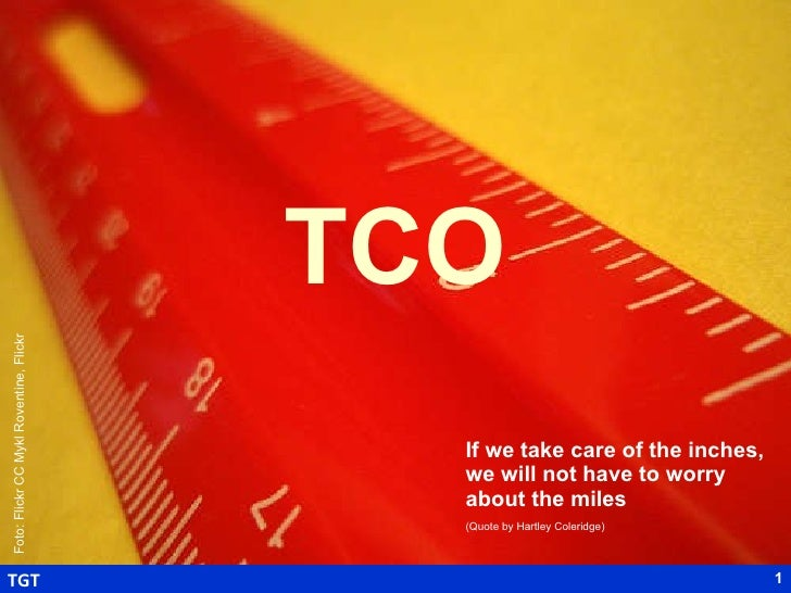 TCO If we take care of the inches, we will not have to worry about the miles (Quote by Hartley Coleridge)   Foto: Flickr C...