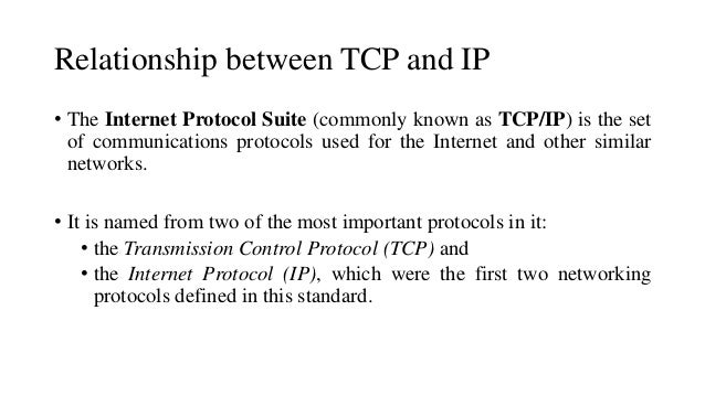 what is the relationship between tcp ip and internet