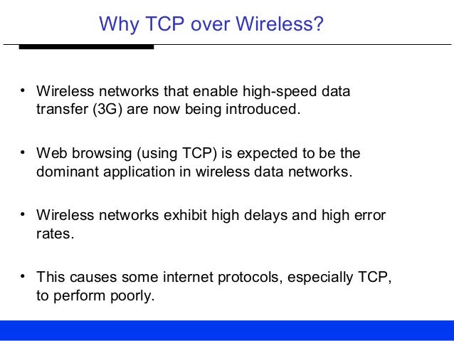 TCP OVER 2.5 3G WIRELESS NETWORKS EBOOK