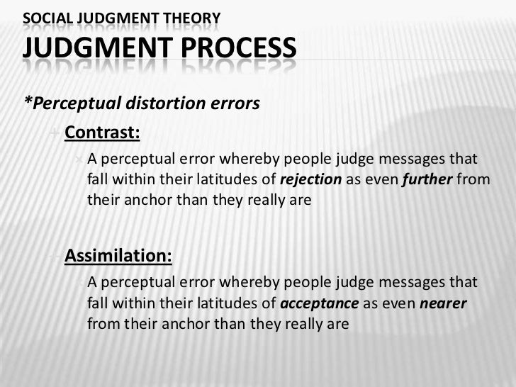 social judgement theory essay Free essay: ocial judgment theory (sjt) is a persuasion theory proposed by  carolyn sherif, muzafer sherif, and carl hovland,[1] defined by.