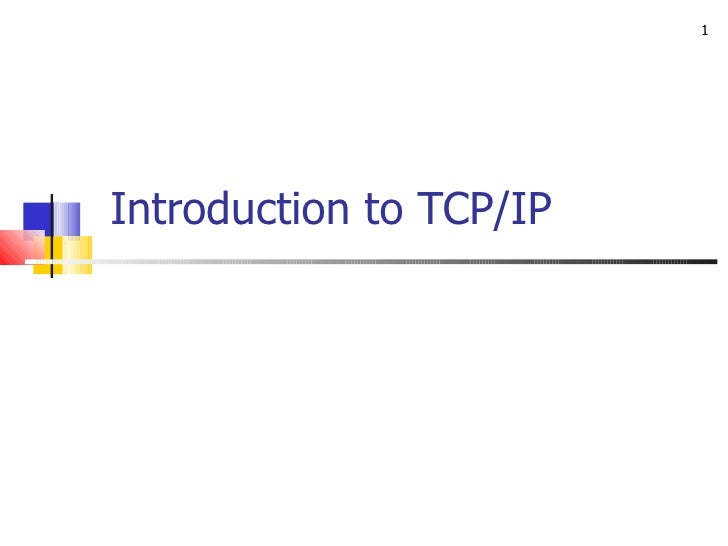 1Introduction to TCP/IP
