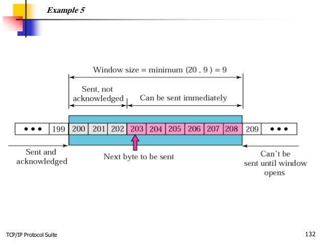 TCP/IP Protocol Suite 132 Example 5