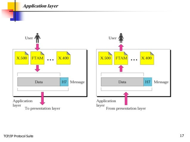 TCP/IP Protocol Suite 17 Application layer