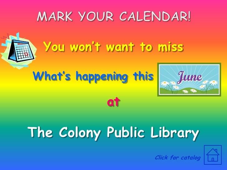 TCPL June 2009 Events