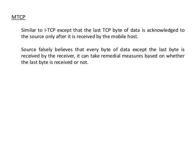 TCP over wireless slides