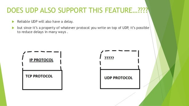 Tcp vs udp, when and when not to use    !!!