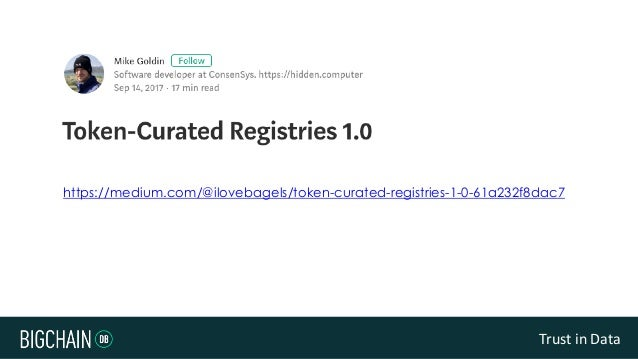 Building Token Curated Registries with BigchainDB Slide 3