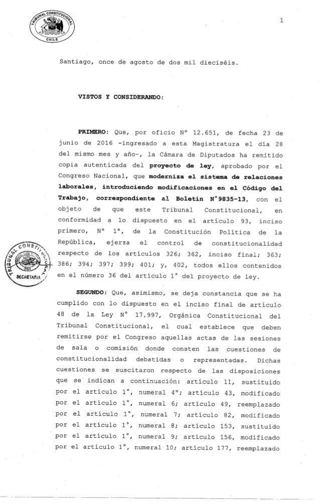 Fallo TC Reforma Laboral