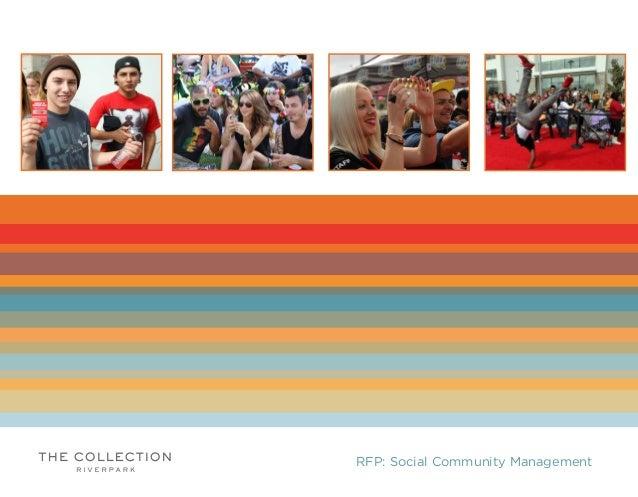RFP: Social Community Management