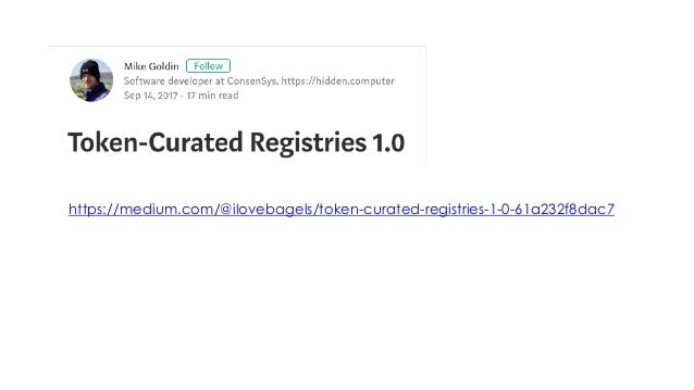 Building DApps based on Token Curated Registries - Gautam Dhameja - Web3Summit Slide 2